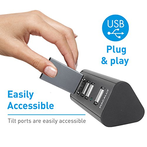 Macally 4 Port Powered USB 2.0 Hub with 5V 2A Power Adapter & 5 foot long Cable (TriHub4) by Macally (Image #4)