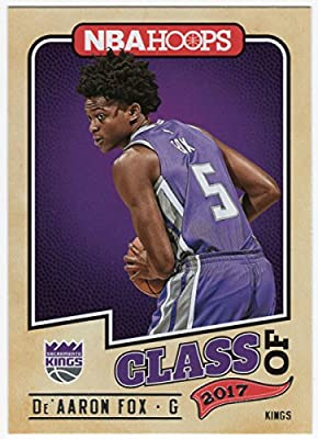De'Aaron Fox 2017-18 Panini NBA Hoops Class of 2017 Rookie Card Sacramento Kings
