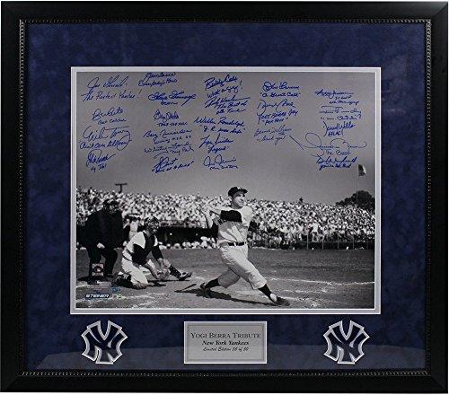 Yogi Berra Tribute Multi Autographed and Inscribed 20x24 Metallic Photo 23 Sigs LE/50 Elite Framed - Authentic (Elite Gift Certificates)