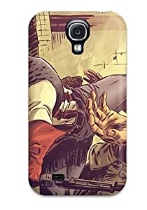 For Galaxy S4 Premium Tpu Case Cover Captain America Kicking Protective Case