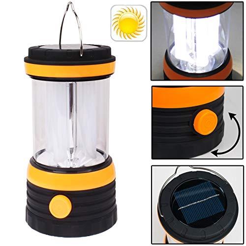 LED Solar Lantern Lighting & Decoration Solar Powered Camping Lamp Lantern, 8 LED (Black) Umbrella Lights by Umbrella Lights