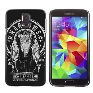 CaseCaptain Carcasa Funda Case - Samsung Galaxy S5 V SM-G900 / Cool Retro Illustration /