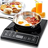 Secura 9100MC 1800W Portable Induction Cooktop Countertop Burner - Black