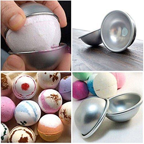 Dingdangbell en alliage daluminium DIY Boule de bombe de bain Moules /à p/âtisserie Moule /à g/âteau Moule /à g/âteau en /étain 5/Ensemble de balles 5.5cmx5cm