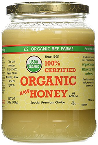 (YS Organic Bee Farms CERTIFIED ORGANIC RAW HONEY 100% CERTIFIED ORGANIC HONEY Raw, Unprocessed, Unpasteurized - Kosher 32oz(pack of)