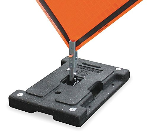 Dicke Safety Products DSB100 Stacker Rubber Base Sign Stand with Pocket Panel Holder, 42 lb
