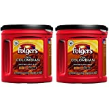 Fresh Taste of Folgers Coffee, 100% Colombian Ground Coffee, Med-Dark Flavor, 35 Oz Canister - (2 pk)