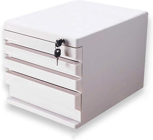 FPigSHS Archivadores de fichas Archivadores de Escritorio Caja de Almacenamiento Muebles de Oficina gabinete de Archivo 4 cajones de plástico con cajón de Alta Capacidad Puede almacenar Archivos A4: Amazon.es: Hogar