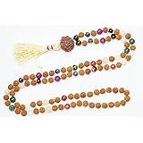 Tibetan Mala Necklace Prayer Beads Necklace Japamala 108 Rudraksha Meditation Malas Healing Mala