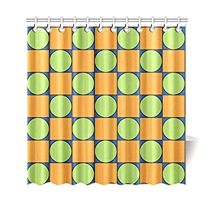 c2a1aed7a423d Amazon.com  Find Arts Custom Shower Curtain Green And Orange ...