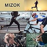 MIZOK Mens Running Shorts Mesh Tight Gym Training