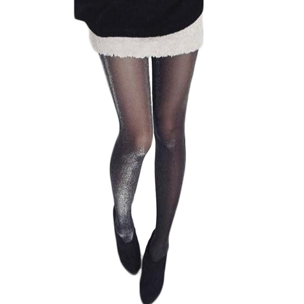 4d111ce81ea LIV Women Stockings Pantyhose Plus Size Sparkle Tights Glitter Pantyhose  for Women (A)  Clothing