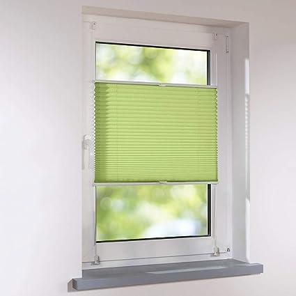 Persiana veneciana (Fijación sin agujeros plegable Estor sol Estor de privacidad &, poliéster, verde, 70 x 130 cm: Amazon.es: Hogar