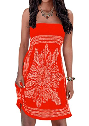 i Coverup Floral Print Bohemian Beach Dress Cover-up for Women ()