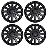 hubcaps nissan altima 2010 - TuningPros WSC3-610B16 4pcs Set Snap-On Type (Pop-On) 16-Inches Matte Black Hubcaps Wheel Cover