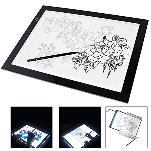 Portable Artist Tracing Tool Drawing Board Drafting Equipment Learning Line Art Accessories Sketching Imagination Idea Gift with 3 Levels Lighting Adjustable B1AA22