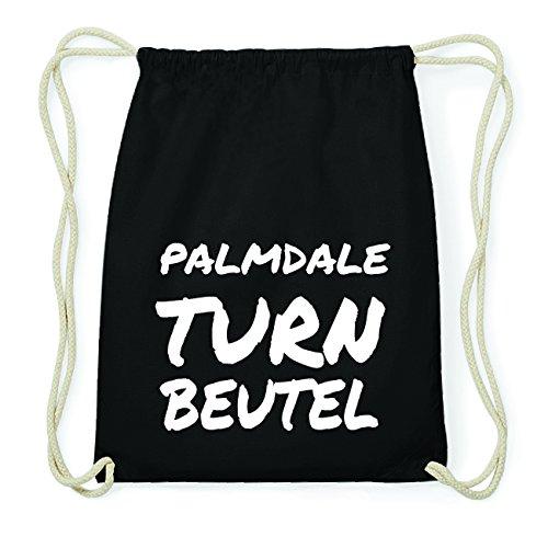 JOllify PALMDALE Hipster Turnbeutel Tasche Rucksack aus Baumwolle - Farbe: schwarz Design: Turnbeutel XQh2qqSqkd