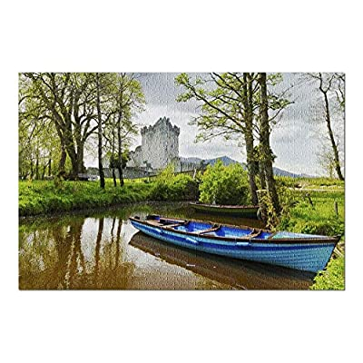 Boat in a Pond at Ross Castle Near Killarney, County Kerry, Ireland 9019096 (Premium 1000 Piece Jigsaw Puzzle for Adults, 20x30, Made in USA!): Toys & Games