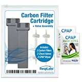 RespLabs Cartridge Filter Kit Replacement - [2 Pack] Fits the SoClean 2 | Includes 2 Carbon Filters, 2 Check Valve Assemblies, 2 Travel CPAP Wipes.