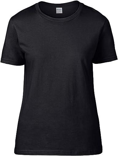 Gildan- Camiseta Premium de algodón para Mujer: Amazon.es: Ropa y accesorios