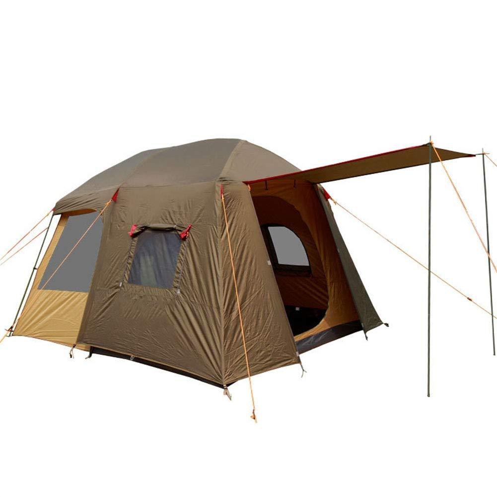 Zelt, Doppel-Ebene Anti-Big Wind Outdoor Mountains Camping Zelt 8-12 Personen OverGrößed Falten Zelte
