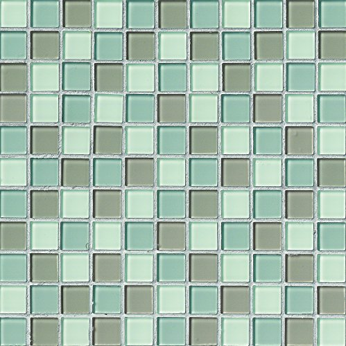 M S International Majestic Ocean 12 In. X 4 mm Glass Mesh-Mounted Mosaic Tile, (20 sq. ft, 20 pieces per case), White
