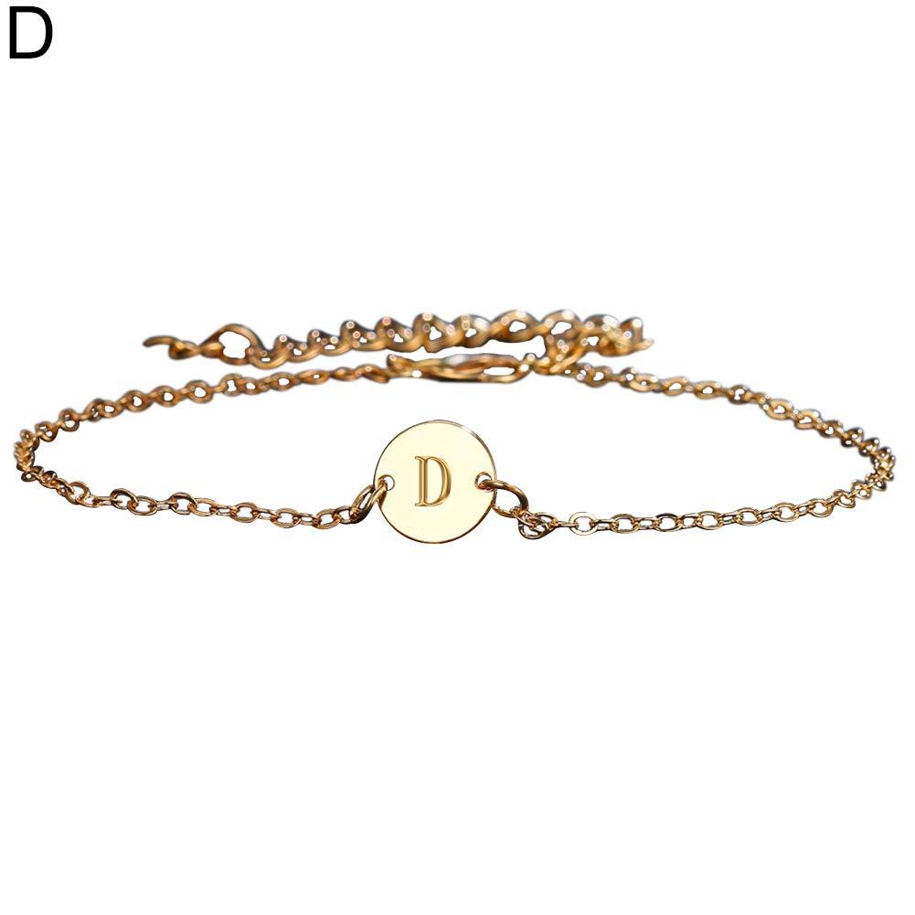 Angel3292 Fashion 26 Letters Metal Anklet Bracelet Beach Foot Chain Women Jewelry Gift