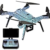 MightySkins Protective Vinyl Skin Decal for 3DR Solo Drone Quadcopter wrap cover sticker skins Carved Blue