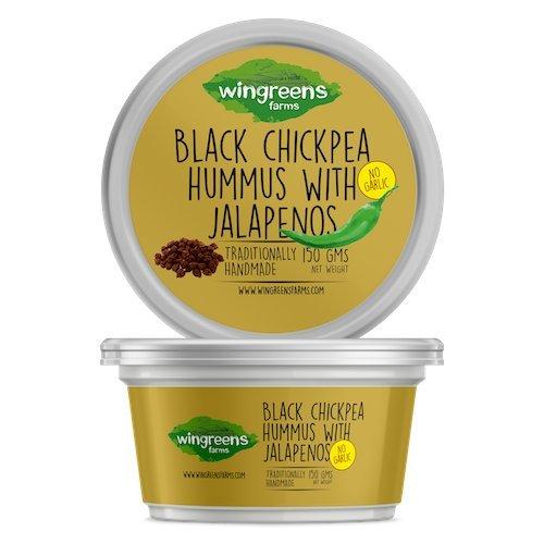 Wingreens Farms Black Chickpea Hummus With Jalapenos 150 Gr - (Pack Of - Peas Chick Hummus
