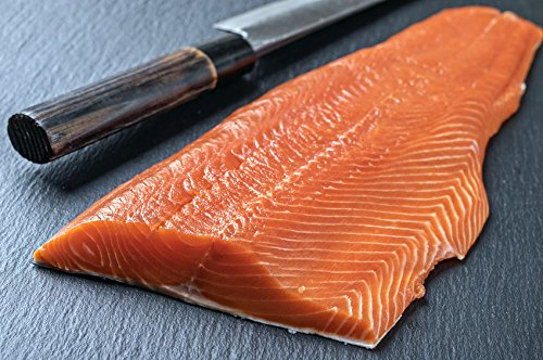 Price comparison product image 8.0 Lbs. Whole Fresh Salmon Fillet Skin On. Vacuum Packed,  Ready to Cook. (4 Fillets).