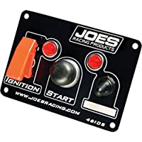 Joes Racing Products Black/White 5 x 3-1/2 Dash Mount Switch Panel P/N 46105