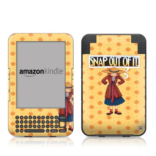 Faceplate Snap Case (Snap Out Of It Design Protective Decal Skin Sticker for Amazon Kindle Keyboard / Keyboard 3G (3rd Gen) E-Book Reader - High Gloss Coating)