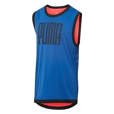 51750bbfa770db PUMA Mens Training Sleeveless Top - Blue -  Amazon.co.uk  Clothing