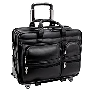 McKleinUSA CLINTON 88445 Black 17 Detachable-Wheeled Laptop Case