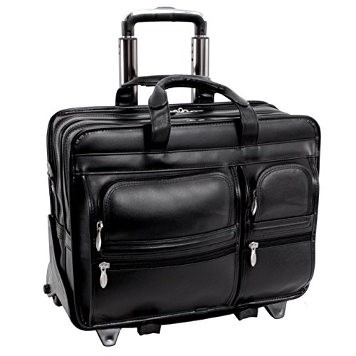 McKleinUSA Clinton 88445 Black 17 Detachable-Wheeled Laptop Case