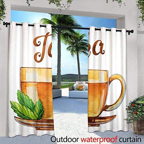 berrly Outdoor- Free Standing Outdoor Privacy Curtain,Creepy Tree Halloween Background with Full Moon,W96 x L108 Silver Grommet Top Drape ()
