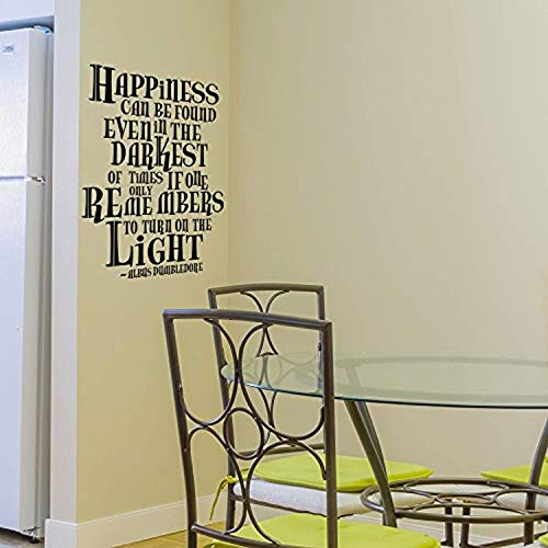 Wall Decals Mural Decor Vinyl Sticker Harry Potter Happiness Can Be Found Even Darkest Times - Albus Dumbledore Quote Boy Aquamarine SK8468