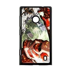 Custom Japanese manga series Attack on titan Nokia Lumia 520 Hard Plastic Black Case Cover Shell (HD image)