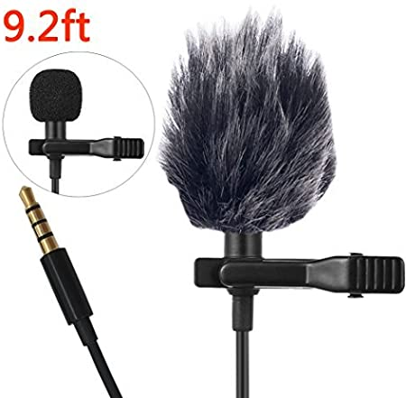 Ansteckmikrofon Lavalier Mikrofon f/ür Kamera//PC//Android Rauschunterdr/ückung f/ür Videoaufzeichnung DSLR YouTube Podcast Interview Vlog