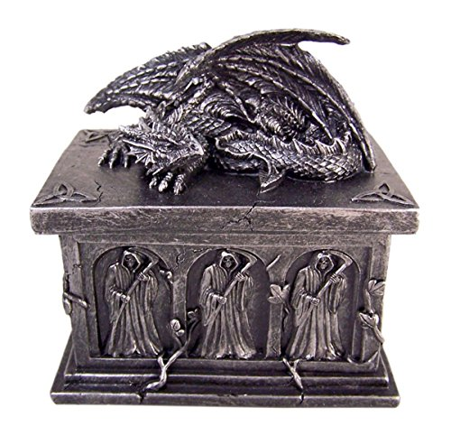 Crypt Keeper Dragon Trinket Box with Hidden Storage Compartment (Keeper Trinket)