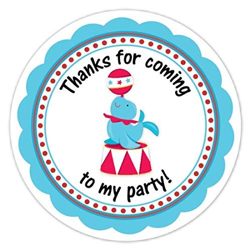 2 inch Seal and Ball 60 Circus Party Stickers