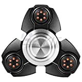 BESKIT Hand Spinner Fidget Toy Fast Bearing EDC Focus Toy for Killing Time Relieves Stress And Anxiety And Relax for Children and Adults (Black 3) BESKIT