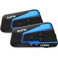 LEXIN 2x B4FM Intercomunicador Casco Moto, Moto Bluetooth