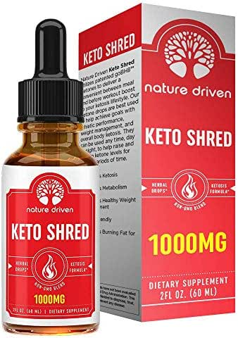 Shark Tank Keto Shred Drops - 1,000mg of goBHB!! Boost Metabolism and Energy - Carb Blocker and Appetite Suppressant - for Men & Women - Lemon Lime Flavor - Ketosis Fat Burner