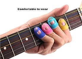 Protectores de dedo de silicona para guitarra acústica, 5 en 1 ...