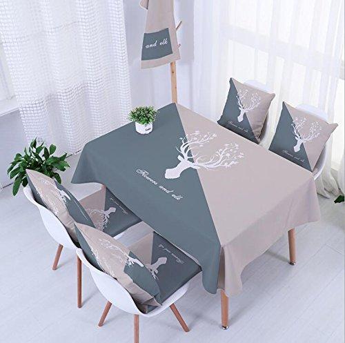 WAZY Tischdecke Square Esstisch Tuch pastoralen Druck Wasserdichte Tischdecke (Farbe   K, größe   55.1  55.1inch) B07CVDMQBJ Tischdecken Genial     | Moderater Preis