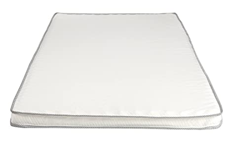 AmazonBasics - Colchoncillo de espuma viscoelástica con tejido Medicott 140 x 200 cm