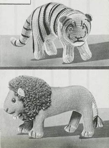 Lion and tiger knitting patterns vintage knitting pattern for two lion and tiger knitting patterns vintage knitting pattern for two stuffed toys knit lion pattern and knit tiger pattern kindle knitting patterns dt1010fo