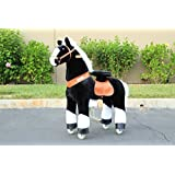 Ponycycle Pony Cycle Ride On Horse No Need Battery No Electric Just Walking Horse BLACK STALLION - Size MEDIUM for 4 to 10 Years Old