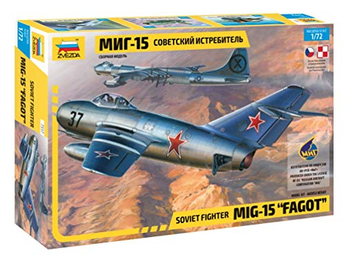 Zvezda Model 7317 Soviet Fighter MIG-15 FAGOT (Mig Fighter 15)